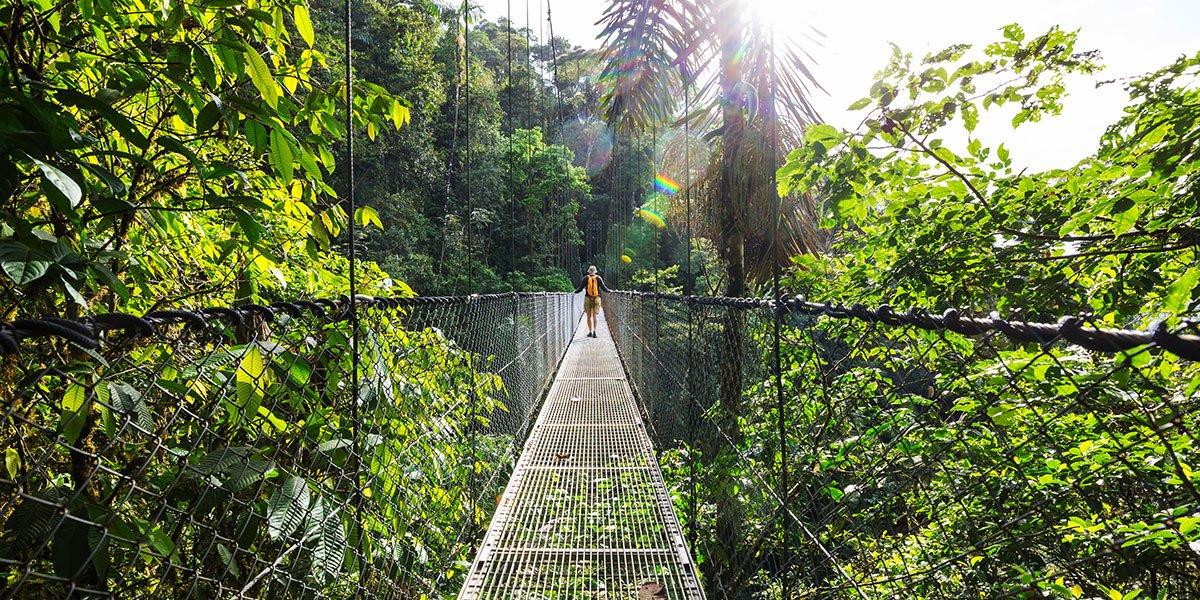 Hängbro i Costa Rica
