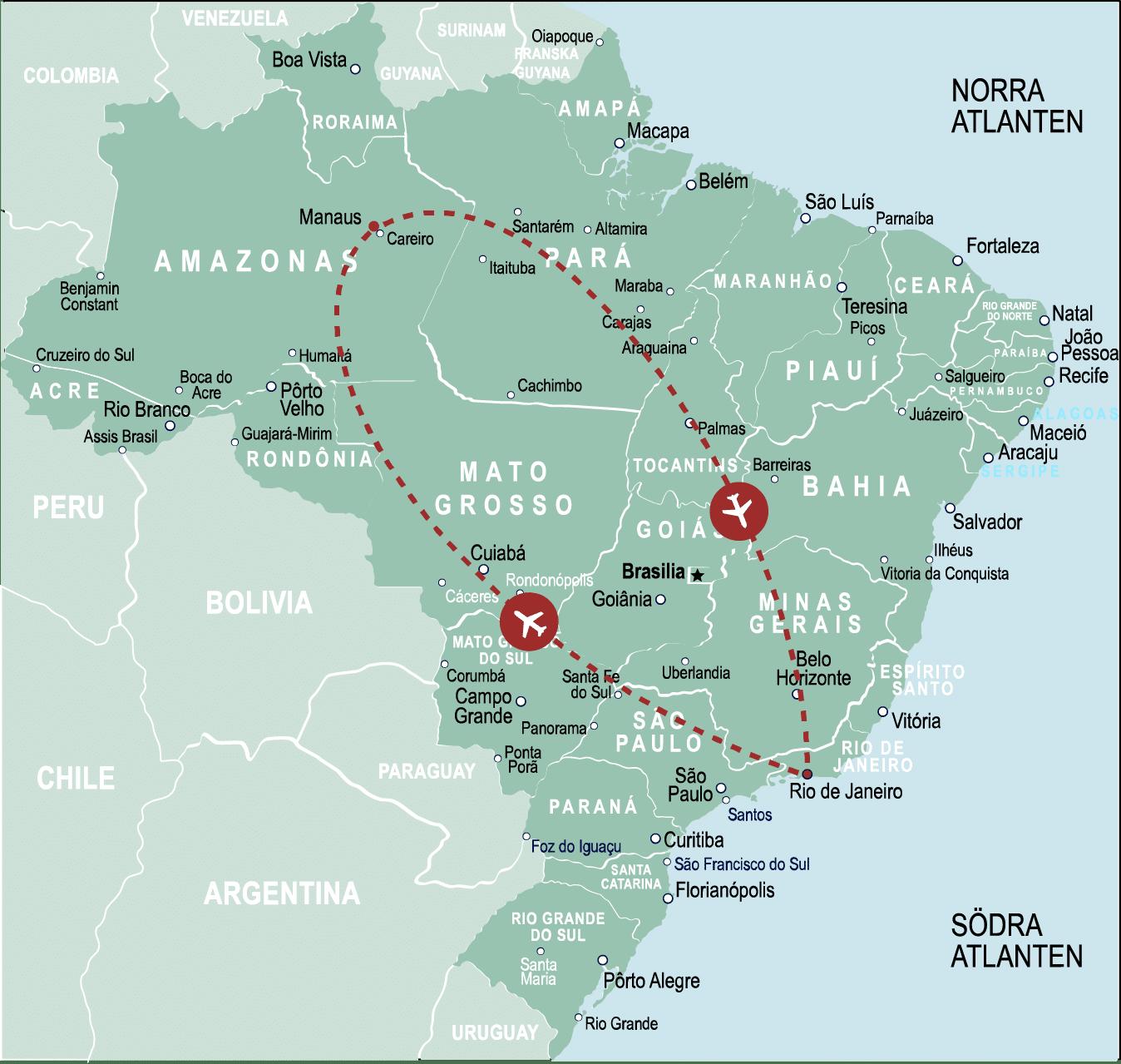 Resa Rio de Janeiro till Amazonas