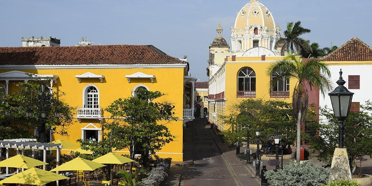 Gamla stan i Cartagena, Colombia
