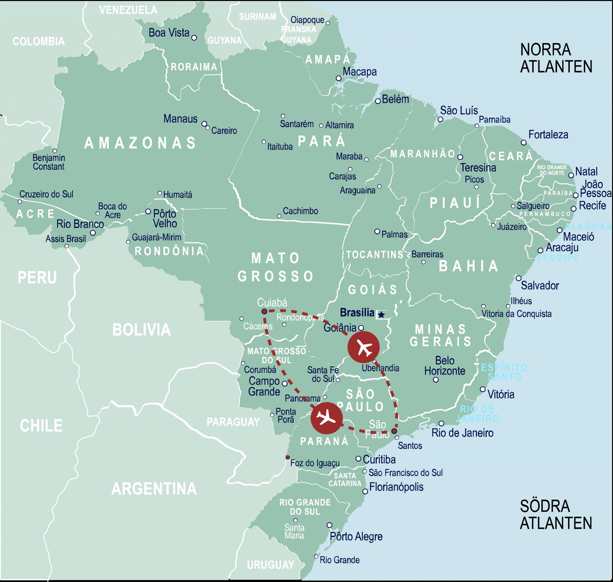 Karta Jaguarresa Pantanal