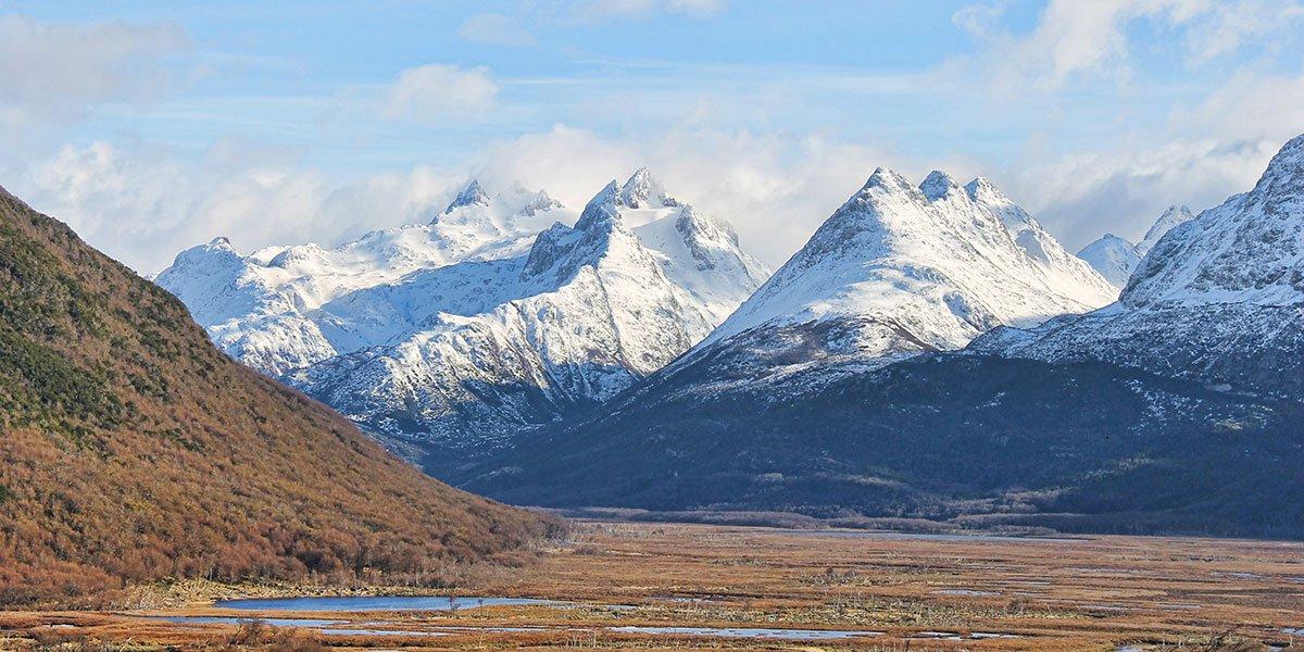 Bergskedja i Patagonien