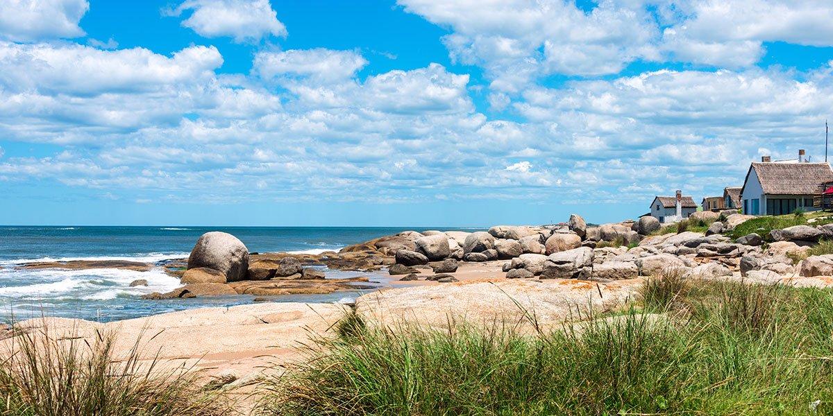 Strandbild från Uruguay