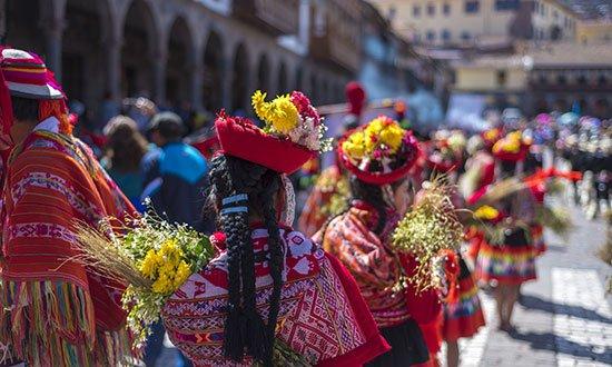 Festivalbild från Cusco i Peru