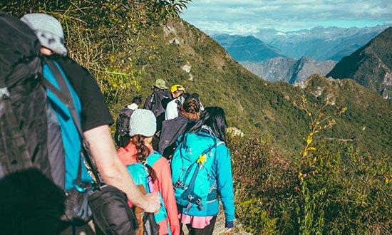 Bild från en vandring längs Inkaleden i Peru