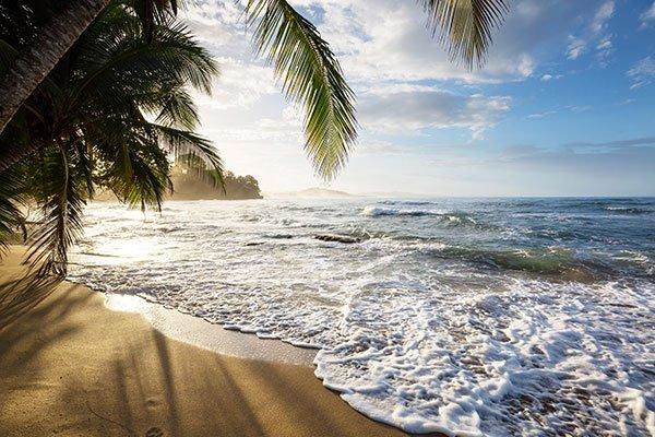 Strandbild från Costa Rica