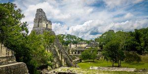 Tempelruiner i Tikal, Guatemala