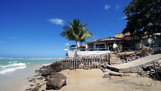 Restaurang utanför Natal i Brasilien