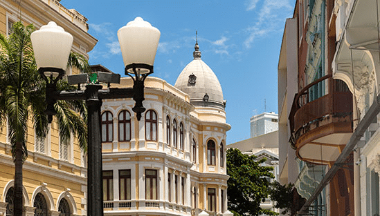 Bild från gamla stan i Recife, Brasilien