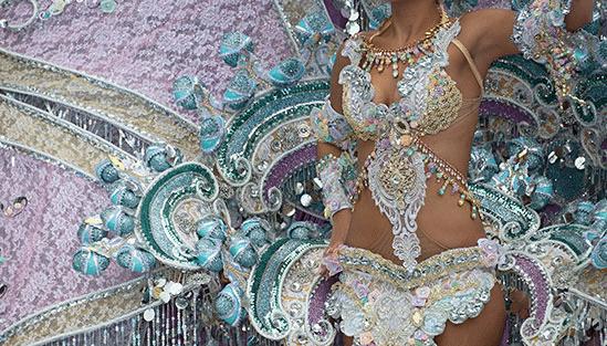Bild från karnevalen i Rio de Janeiro, Brasilien