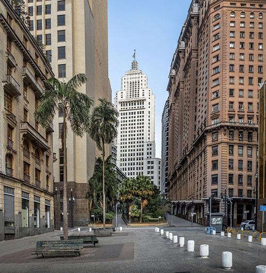 Gatubild från Sao Paulo i Brasilien