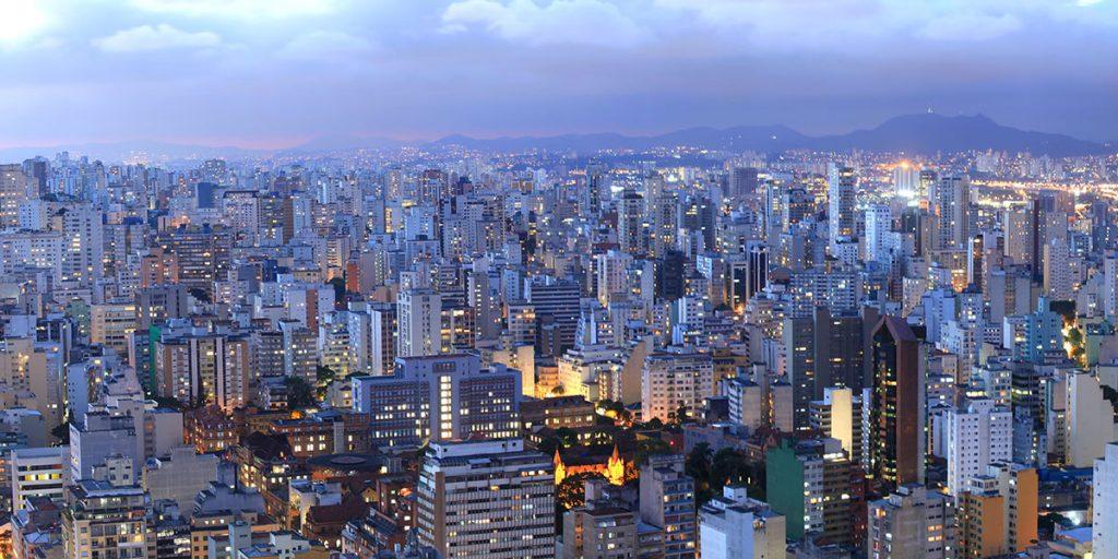 Bild över Sao Paulo i Brasilien