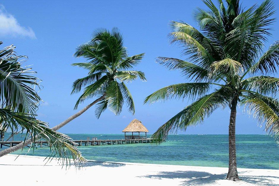 Paradisstrand i Belize