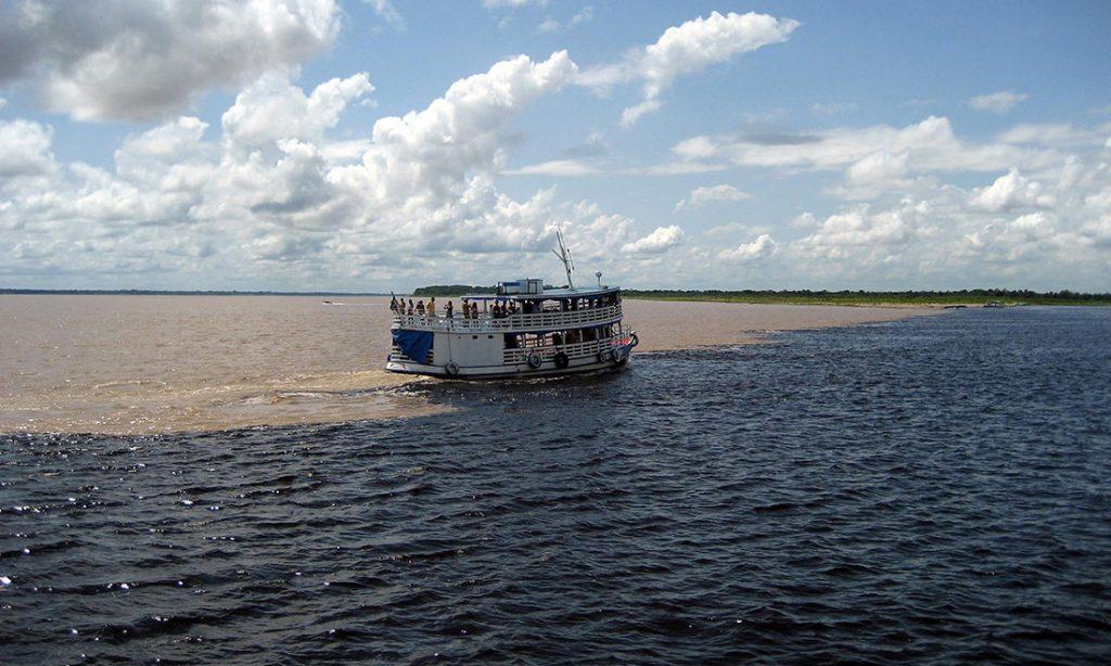 Meeting of the waters, Manaus, Brasilien