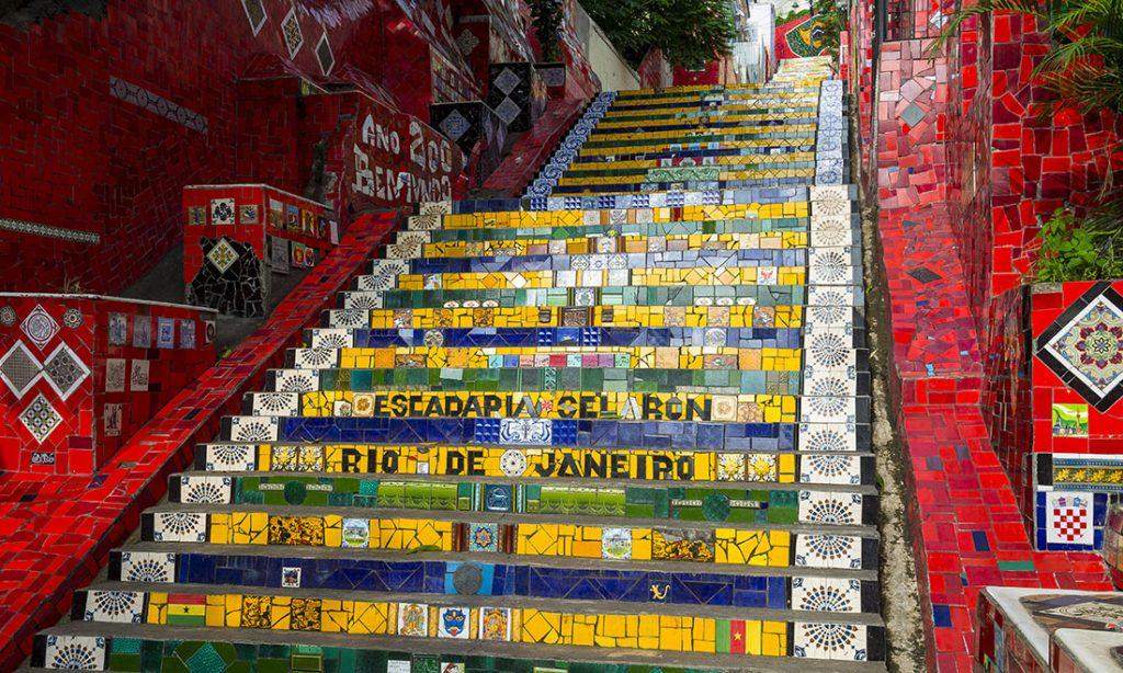 Trapporna upp till Santa Teresa, Rio de Janeiro.