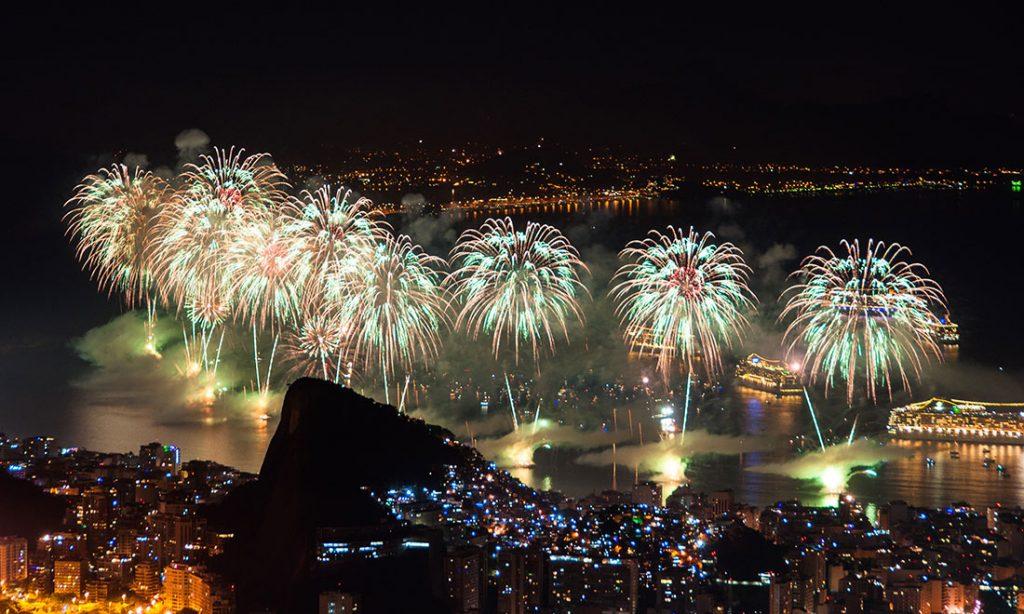 Nyårsfirandet i Rio de Janeiro.