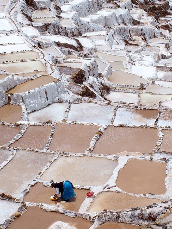 Maras saltbruk, Cusco, Peru
