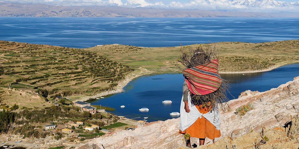 Titicacasjön, Bolivia