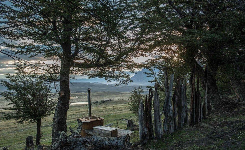 Awasi Patagonia, hot tub