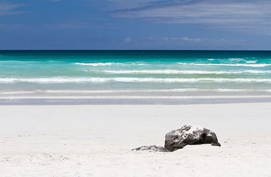 Strandbild från Galapagos
