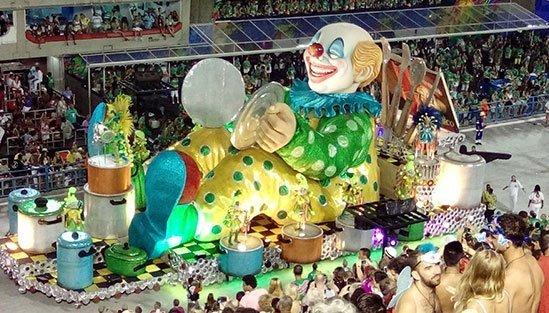 Karnevalsvagn från Sambodromo, Karnevalen i Rio de Janeiro