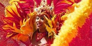Dansare från karnevalen i Rio de Janeiro