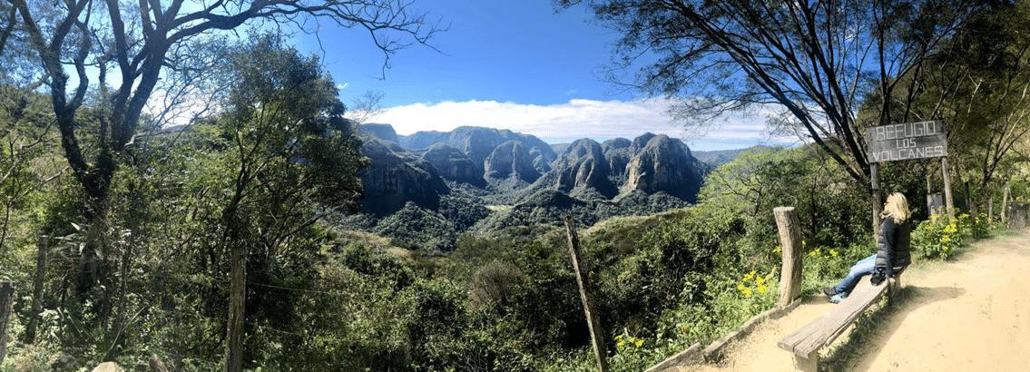 Utsikt från Refugio Los Volcanes