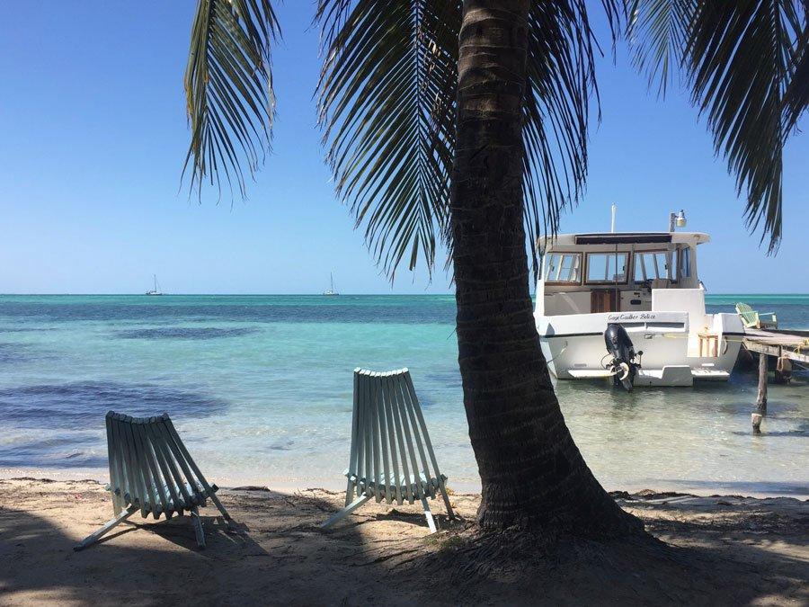 Slappna av på Caye Caulker, Belize
