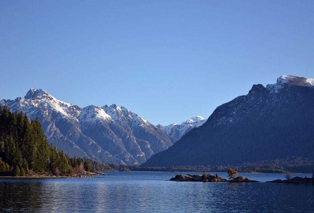 Sjölandskap I Patagonien