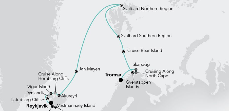 Reykjavik till Tromsö