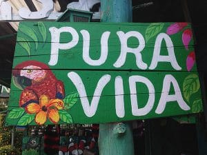 Pura Vida - Hälsningsfras på Costa Rica